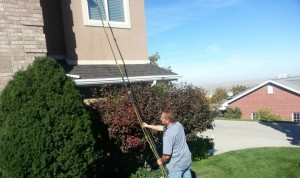Window Cleaning with a Water Fed Pole